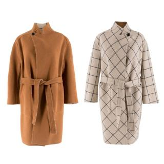 Louis Vuitton Reversible Wool Wrap Coat