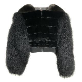FurbySD Chinchilla Fur Black Jacket