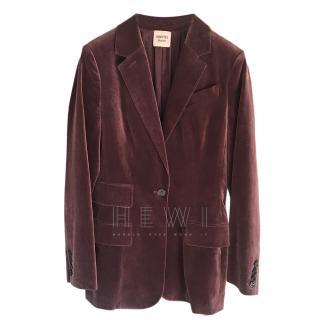 Hermes Purple Velvet Longline Blazer