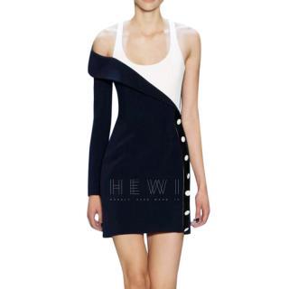 Mugler runway one shoulder embellished dress