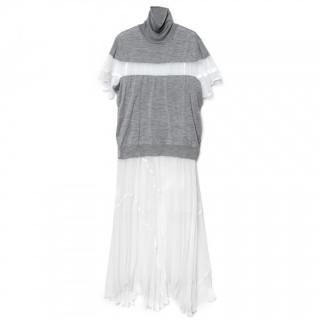 John Smedley x Sacai Grey Maxi Dress
