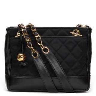 Chanel Satin & Leather Vintage Mini Shoulder Bag
