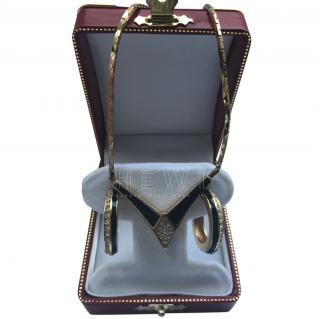 Christian Dior Enamel Necklace & Earrings set