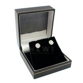 Bespoke 18ct White Gold Diamond Cluster Stud Earrings