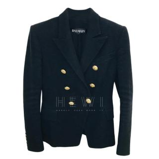 Balmain Black Tweed Blazer