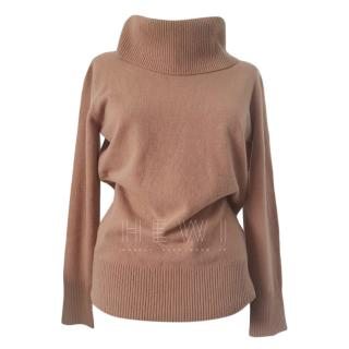 Max Mara Camel Roll Neck Jumper