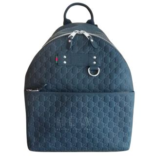 Gucci Black Monogram Backpack