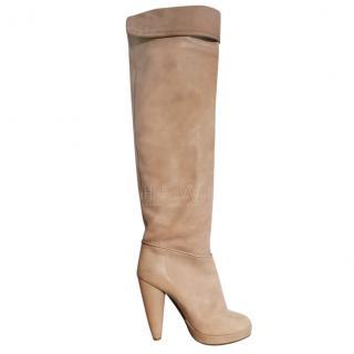 Comptoir Des Cottonniers Nubuck Leather Heeled Boots