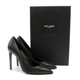 Saint Laurent Black Zoe Leather Pumps