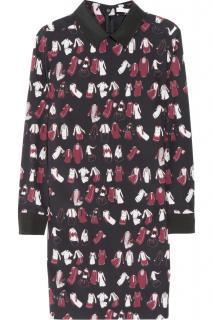 Victoria Victoria Beckham Silk Printed Dress
