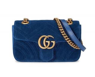 Gucci Blue Velvet GG Marmont matelass� mini bag