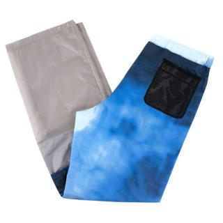 Prada Nylon Cloud Print Convertible Pants