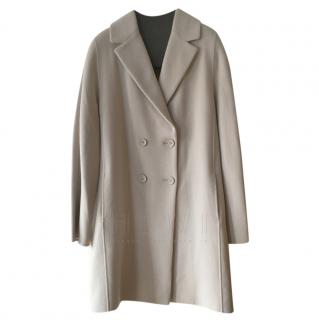 Max Mara Angora Wool Double Breasted Coat