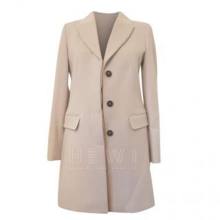 Max Mara Beige Cashmere & Wool Blend Coat