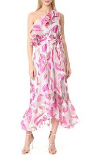 Temperley Pink Throne Ruffled Dress