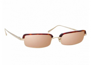 Linda Farrow Leona C4 Rectangle Sunglasses
