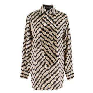 Emma Willis Silk Stripe Shirt With Neck Tie