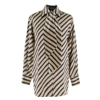 Emma Willis Silk Stripe Shirt With Neck Tie