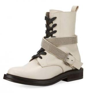 Brunello Cucinelli Monili harness trim boots - New Season