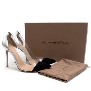 Gianvito Rossi Plexi Leather & Suede Pumps