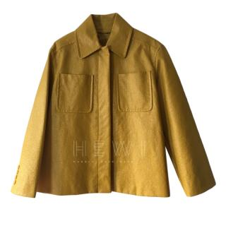Max Mara Yellow Coated A-Line Jacket