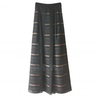Max Mara Shine Striped Corolla Maxi Skirt