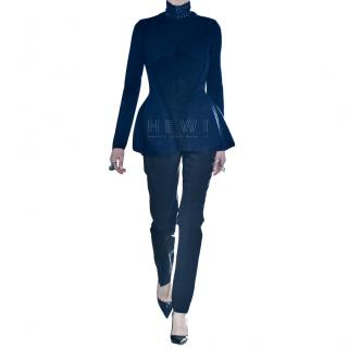 Dior Runway Knit Silk High Neck Jumper