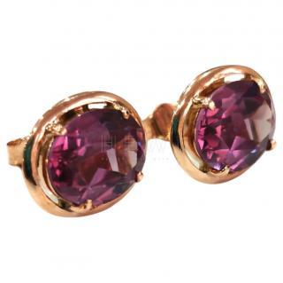 Bespoke 14ct Rose Gold Vintage Alexandrite Earrings