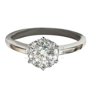 Bespoke 0.25ct Diamond Solitaire Halo Ring