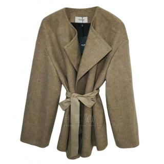 Pringle of Scotland Wool & Cashmere Belted Coat