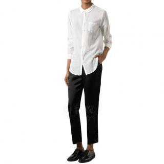 Forte Forte Crinkle-Effect Silk White Shirt