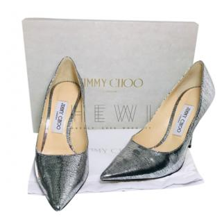 Jimmy Choo Love 100 lizard embossed pumps