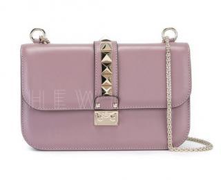 Valentino Lilac Medium Glam Lock Shoulder Bag