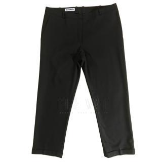 Jil Sander Wool & Cashmere Tapered Wide Leg Pants