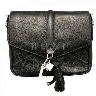 Lancel Black Calfskin Nine Shoulder Bag
