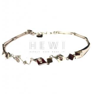 Lukfook 18ct White Gold Diamond Set Fusion Bracelet