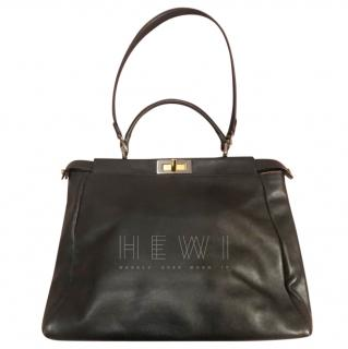 Fendi Peekaboo 2way Large Black Leather