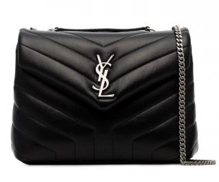 Saint Laurent Black Quilted Small Lou Lou Bag