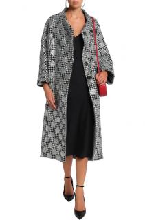 Dolce & Gabbana Glittered houndstooth wool-blend coat