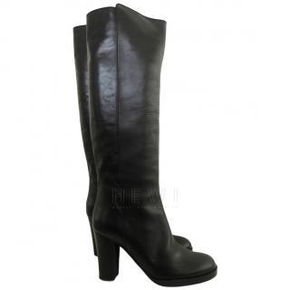 Veronique Branquinho Leather Mid-Heel Knee Boots