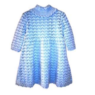 Dolce & Gabbana Blue Cashmere Knit Dress