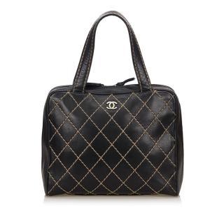 Chanel Lambskin Leather Surpique Tote Bag