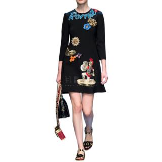 Dolce & Gabbana Black Roma Dress