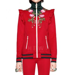 Gucci Red Embroidered Tracksuit
