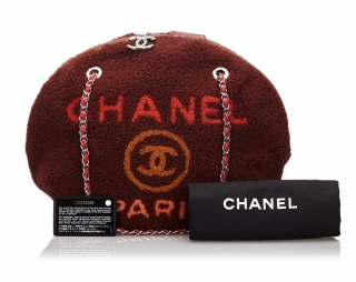Chanel Shearling Deauville Round Shoulder Bag