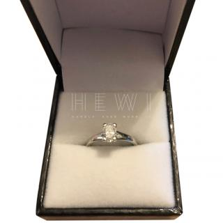 Bespoke 0.61ct Diamond Solitaire Platinum Ring