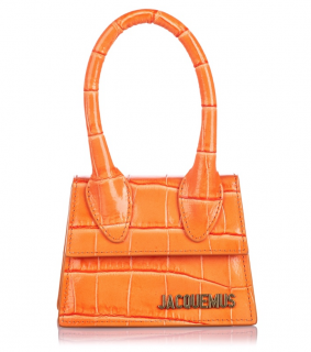 Jacquemus Orange Embossed Leather Le Chiquito Bag