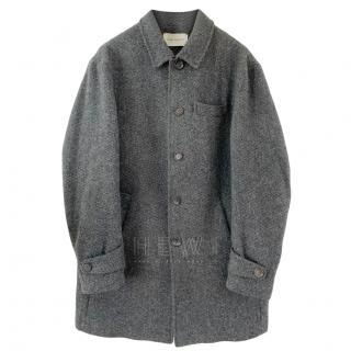 Oliver Spencer Grey Wool Coat