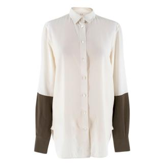 Celine Bicolor silk shirt