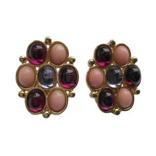 Yves Saint Laurent Vintage Crystal Earrings
